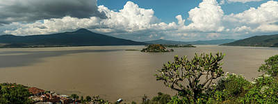 Patzcuaro Photograph - Elevated View Of Island In A Lake by Panoramic Images