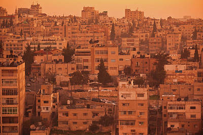 Jordan Photograph - Elevated View Of Jebel Amman Area by Panoramic Images