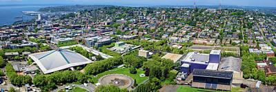 Seattle Center Photograph - Elevated View Of Keyarena, Seattle by Panoramic Images