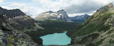 Ohara Photograph - Elevated View Of Lake Ohara With Mount by Panoramic Images