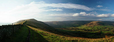 Peak District Photograph - Elevated View Of Landscape From Mam by Panoramic Images