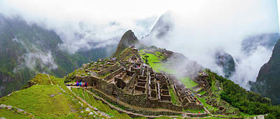 Elevated View Of Machu Picchu Art Print