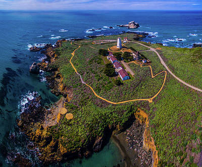 San Simeon Photograph - Elevated View Of Piedras Blancas by Panoramic Images