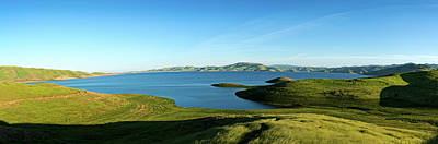 Elevated View Of San Luis Reservoir Art Print by Panoramic Images