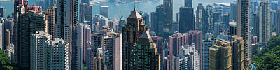 Hong Kong Photograph - Elevated View Of Skyscrapers, Hong by Panoramic Images