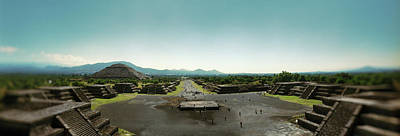 Elevated View Of Teotihuacan Pyramids Art Print by Panoramic Images