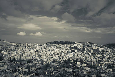 Elevated View Of The City From Mount Art Print