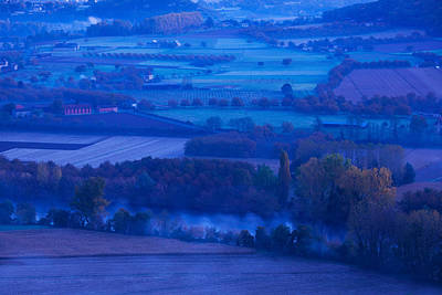 Elevated View Of The Dordogne River Art Print by Panoramic Images