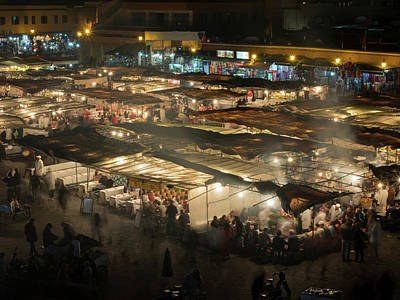 Elevated View Of The Jemaa El-fna Art Print