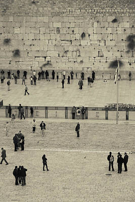 Wailing Wall Photograph - Elevated View Of The Western Wall Plaza by Panoramic Images
