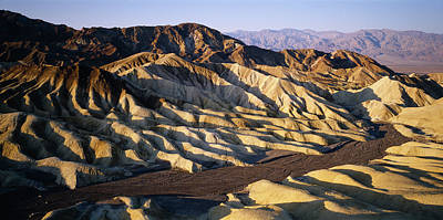 Zabriskie Point Photograph - Elevated View Of The Zabriskie Point by Panoramic Images