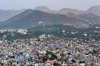 Elevated View Of Udaipur, India Art Print by Adam Jones