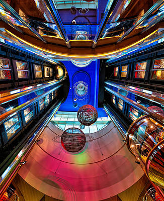 Photograph - Elevators Aboard The Royal Caribbean Adventures Of The Seas by Craig Bowman