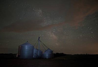 Photograph - Elevators And Milky Way by Doug Davidson