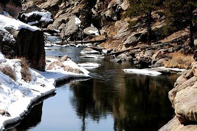 Photograph - Eleven Mile Canyon In Winter by Marilyn Burton