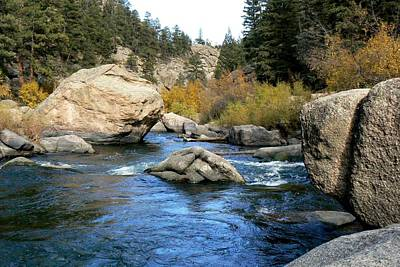 Photograph - Eleven Mile Canyon - Mountain Stream Boulders by Marilyn Burton