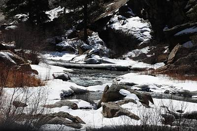 Photograph - Eleven Mile Canyon - Snowy Stream by Marilyn Burton
