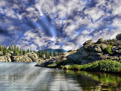 Digital Art - Colorado Landscape by Anthony Dezenzio