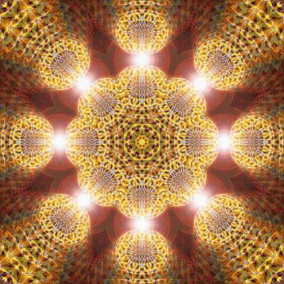 Drawing - Eleven Sacred Steps Of Light K1 by Derek Gedney