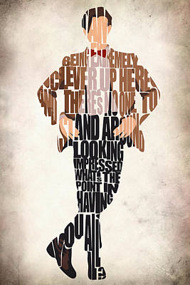 Typographic Digital Art - Eleventh Doctor - Doctor Who by Inspirowl Design