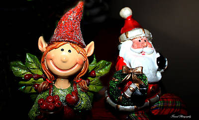 Photograph - Elf And Santa by Debra Forand