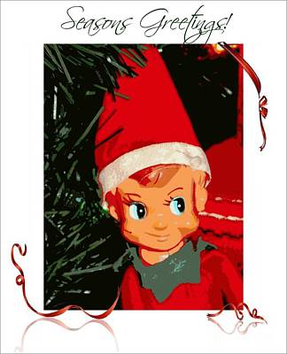 Elf On The Shelf Season's Greetings Art Print