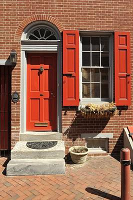Photograph - Elfreth's Alley Door 2 by Keith Swango
