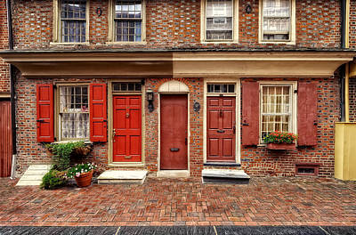 Photograph - Elfreths Alley - Oldest Surviving Houses - V2 by Frank J Benz