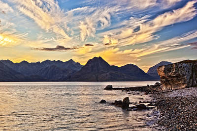 Beach Photograph - Elgol Beach At Sunset by Marcia Colelli