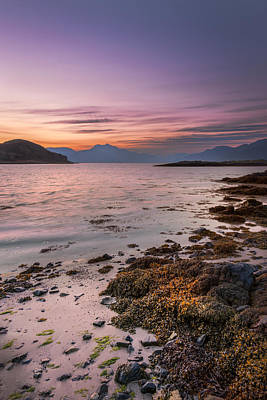 Photograph - Landscape Wall Art Sunset Isle Of Skye by Alex Saunders