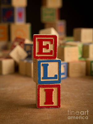 Photograph - Eli - Alphabet Blocks by Edward Fielding