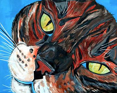 Painting - Eli Jackson My Bengal Boy by Patti Schermerhorn