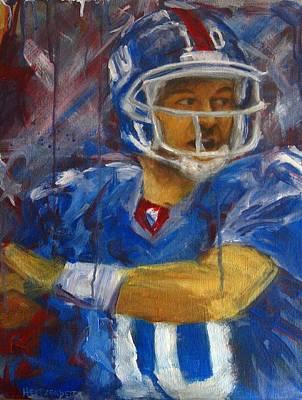 Athlete Painting - Eli by Josh Hertzenberg
