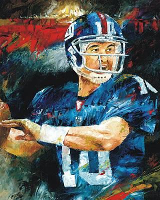 Painting - Eli Manning by Christiaan Bekker