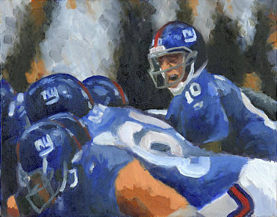 Eli Manning Art Print by Joe Maracic