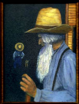Art Print featuring the painting Eli Remembers by Gail Kirtz