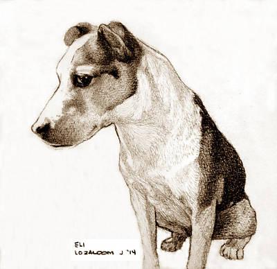 Eli Waits Art Print by Lorraine Zaloom