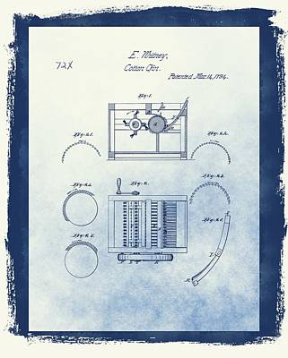 Eli Whitney's Cotton Gin Patent Art Print by Dan Sproul