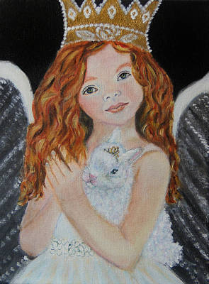 Painting - Eliana Little Angel Of Answered Prayers by The Art With A Heart By Charlotte Phillips
