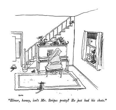 Elinor, Honey, Isn't Mr. Stripes Pretty? Art Print