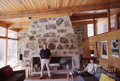 Ski House Wall Art - Photograph - Eliot And Molly Noyes At Their Ski Cabin 1964 by The Harrington Collection