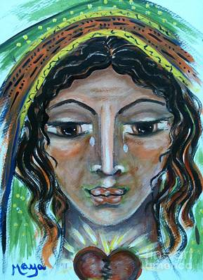 Baptist Mixed Media - Elisabeth by Maya Telford
