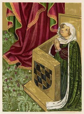 Elisabeth Von Brandenburg Wife Art Print by Mary Evans Picture Library