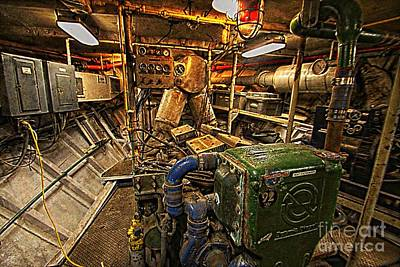 Photograph - Elissa Engine Room by Audreen Gieger