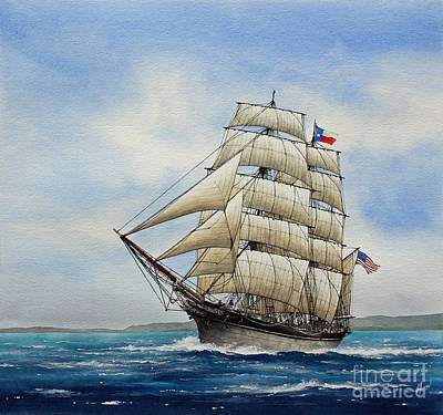 Galveston Painting - Elissa by James Williamson