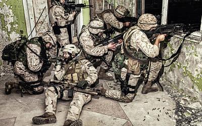 Photograph - Elite Assault Squad Keeping Defense by Oleg Zabielin
