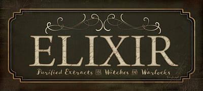 Potions Painting - Elixir by Jennifer Pugh