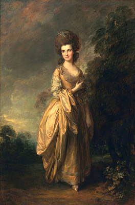 Stylish Painting - Elizabeth Beaufoy, Later Elizabeth by Thomas Gainsborough