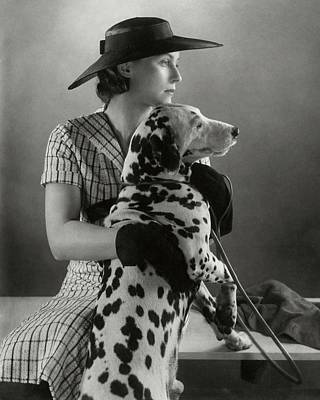 Elizabeth Blair With A Dalmatian Art Print by Edward Steichen