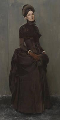 Elizabeth Boott Duveneck Oil On Canvas Art Print by Frank Duveneck